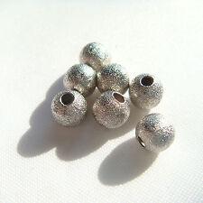 20 Perle Metalliche Diamantate - mm 6 - color Argento