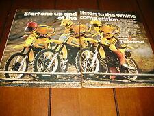 1980 SUZUKI RM125 - RM250 - RM400  ***ORIGINAL 2 PAGE AD***