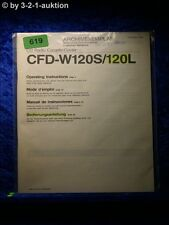 Sony Bedienungsanleitung CFD W120W / 120L (#0619)