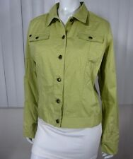 TOMMY BAHAMA STRETCH LONG SLEEVE CASUAL BLAZER TOP SIZE L (12/14) LIME GREEN