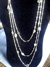 """NICE NATURAL GEMSTONE NECKLACE 68"""" WITH A BRACELET / 2 COLORS"""
