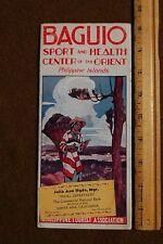 1930 Travel Brochure BAGUIO Sport & Health Center of Orient PHILIPPINE ISLANDS