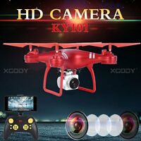 Wide Angle Lens HD Camera Quadcopter RC Drone WiFi FPV RTF Helicopter Hover Red