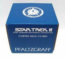 Pfaltzgraff Star Trek Coffee Mug Star Trek VI The Undiscovered Country 1993 New