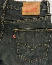 Levis 550 W32 L32 Single Stitch Yellow Thread (Actual Inseam=30.5) Blue Jeans