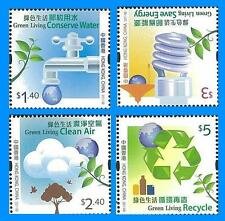 Hong Kong Green Living stamp set MNH 2011