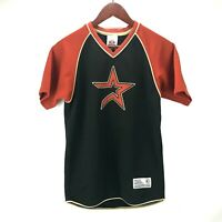 True Fan Black Copper Embroidered Logo Houston Astros Baseball Jersey Youth M L