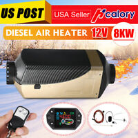 8KW 12V Diesel Air Heater Remote Control LCD Thermostat For Car Truck Trailer RV