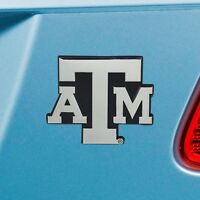Texas A&M Aggies Heavy Duty Metal 3-D Chrome Auto Emblem