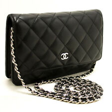 M77 Chanel Cartera Negra en Collar Woc Bolsa de Hombro Cruzado Cierre