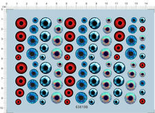 Colorful eye balls eye lenses Model Kit Water Decal