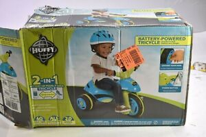 Huffy Battery Powered Tricycle 17547 Blue Green 6 Volt 2 in 1 Trike Discontinued