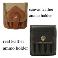Tourbon Rifle Ammo Carrying Pouch Bullets Holder for 308win&30-06 Canvas/Leather