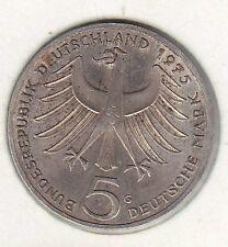5 deutsche mark 1975 argent 1975 g
