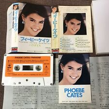 PHOBE CATES Paradise JAPAN CASSETTE TAPE 25KP844 w/PROMO STICKER+PS(flap intact)