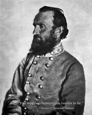 """New 8x10 Civil War Photo: General Thomas """"Stonewall"""" Jackson with Famous Quote"""