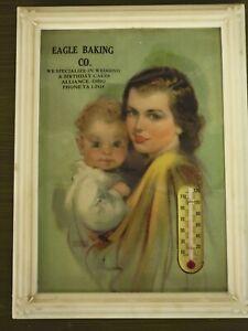 Vintage Advertising Thermometer - Eagle Baking Co - Alliance Ohio - 1950's