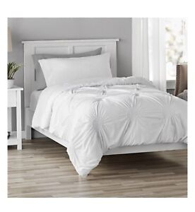 Mainstays Elastic Ruched Comforter in a Bag White Full/Queen NEW