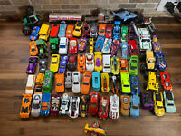 Mixed Lot of 70+Hot Wheels Matchbox Loose Diecast & Plastic Cars Trucks Vehicles