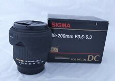 Sigma 18-200mm F/3.5-6.3 DC  NIKON fit in excellent condition