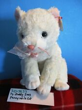 Ty Buddy Fancy 2003 White Cat beanbag plush(310-3633)