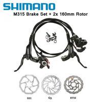Shimano M315 MTB Hydraulic Disk Brake Set Pre-Filled G3/HS1/RT56 160mm Rotors