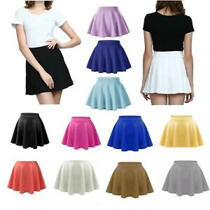 Women's High Waist Pleated Casual Tennis Style Mini Skater Skirt*Pnt