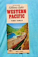 Western Pacific Time Table May 1, 1964