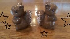New Ceramic Squirrel Salt & Pepper Shakers Great add to your collection!