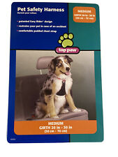Pet Safety Dog Canine Harness Tether Medium Girth 20 in -30 in Top Paw Black