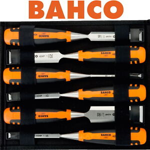 BAHCO 6 Piece Wood Chisel Set 6mm - 32mm Precision Honed In Storage Wallet 424P