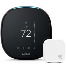 ecobee4 Voice-Enabled Smart Thermostat with Built-In Alexa - Black
