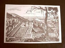 Castello di Heidelberg Germania Incisione di Merian Matthäus del 1640 Ristampa