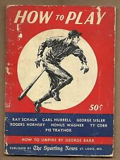 "1953 SPORTING NEWS "" HOW TO PLAY THE GAME""  MAGAZINE"