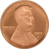 2007 S Lincoln Memorial Cent Choice Proof Penny 1c Coin Collectible