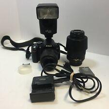 Nikon D3000  w/ 18 - 55 mm + 55 - 200mm + Altura flash + bag