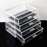 Makeup Organizer 4 Layer Drawer Cosmetic Jewelry Storage Acrylic Transparent Box