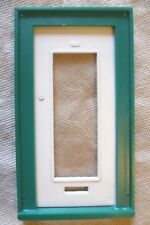 Vintage Dolls House DIY-Caroline's Home Full Plain Glazed Door & Green Frame #1