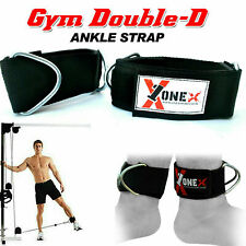 Double D Ankle Strap Attachment Cable Pulley Machine Weight Lifting D Ring