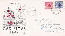 Canada 1964 Christmas FDC Victoria CDS VGC
