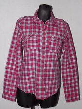 Hollister California womens cotton long sleeve check shirt size M