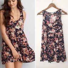 American Eagle Floral Mini Dress XXS Babydoll Shift Oversized