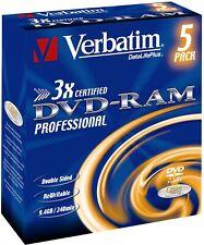 DVD-RAM 9.4GB Verbatim 3x Cart. Typ4 5er Jewel Case