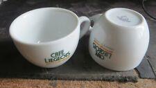 2 tasses « Café Liégeois » - Cup & Saucer Portugal Poids total : 439 grs Diamètr