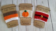 Handmade Crochet Coffee Cup Cozy/Sleeve/Holder Mason Jar Holder - Holiday Set C
