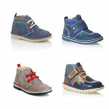 Kickers Leather Upper Hook & Loop Fasteners Shoes for Boys