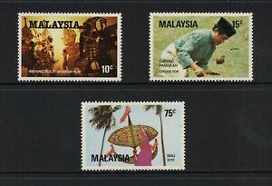 F967 Malaisie 1982 Shadow Jouer, Jeux, Kites 3v. MNH
