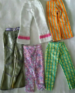 BARBIE FASHION CLOTHES Capris - Jam N Glam pants Purple Pink Orange Green Plaid