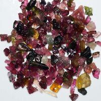 25.0 Ct. Natural Multi~Colour Tourmaline Rough / Mini Chips Stones Wholesale Lot