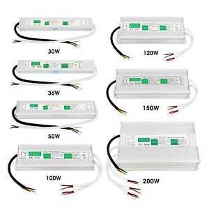 LED Trafo Netzteil Transformator 20-200W DC12V Schaltnetzteil Adapter für Stripe